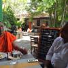 Buddhist Monk BBS Gnanasara Eats Pan Fried Monkfish