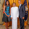 """Sirisena Brat """"Missing"""" In Official White House Photo"""
