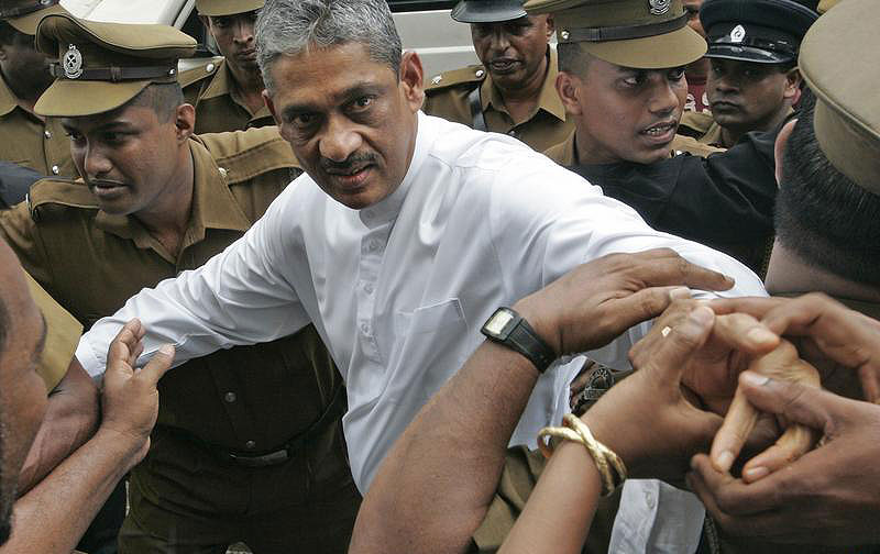 Image result for sarath fonseka jail