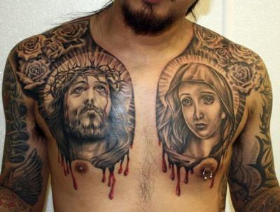 Jesus Chest Tattoo Designs