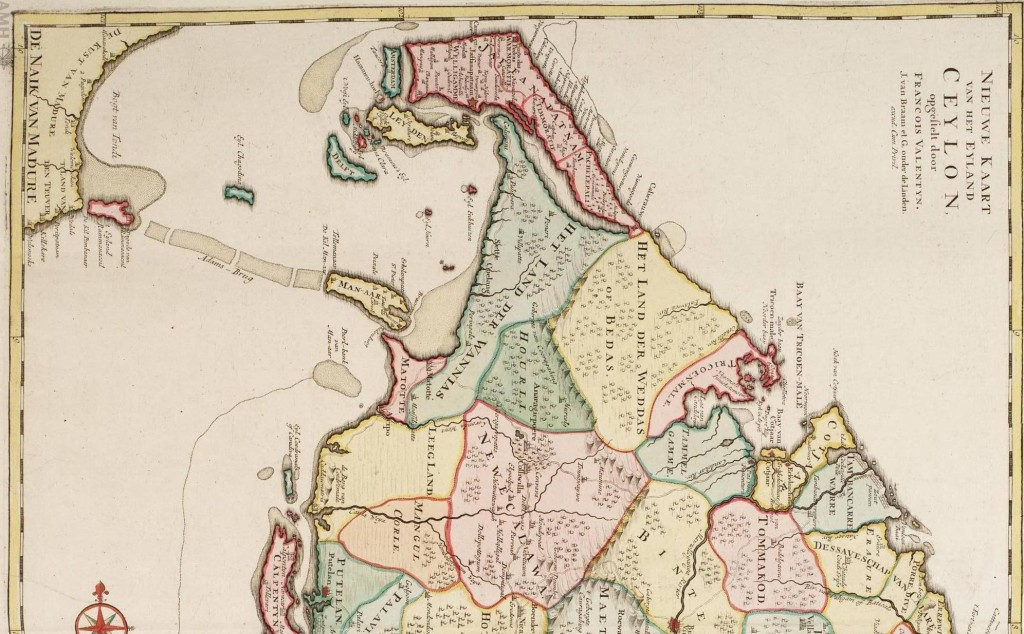 """Nieuwe Kaart Van Het Eyland Ceylon, Francoise Valentyn, J. van Braam et G.onder.de Linden"""" (1724-1726)"""