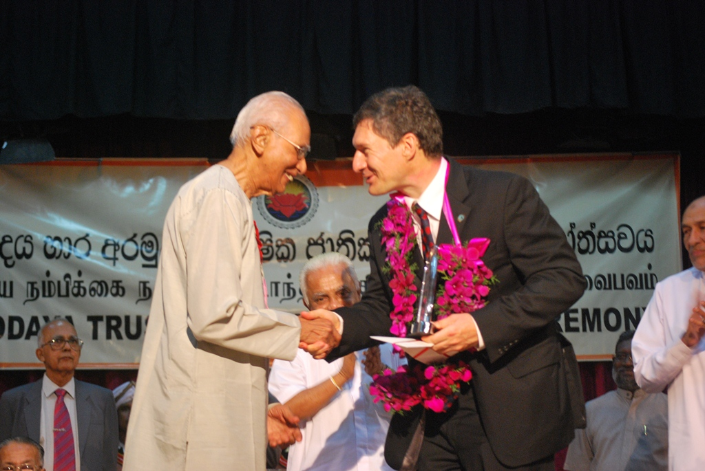 Asoka Devendra honored - Annual National Awards Ceremony of Sarvodaya Trust Fund, 2009  - ( File photo )