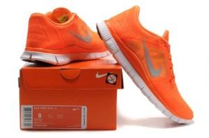 orange nike shoes