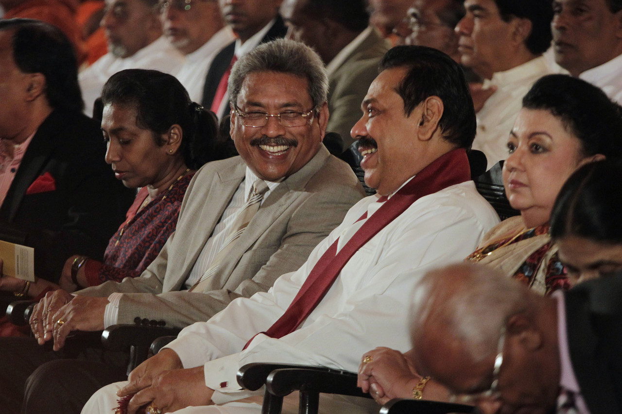 Gota Mahinda Picture courtesy Asscociated Press