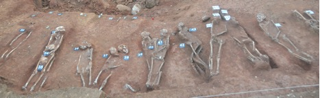 They did not have a decent burial- Free burial postures of Matale corpses