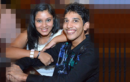 Eksath Senarathne and the girl