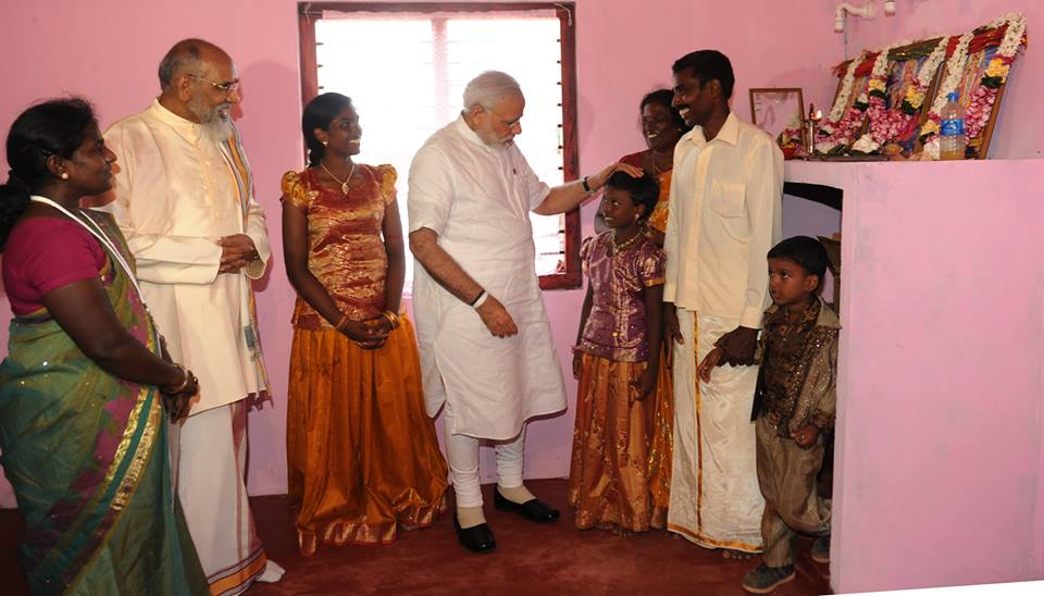 Modi Wigneswaran 2015 March Jaffna