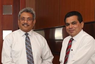 Avant Garde boss Nissanka Senadhipathi with former Defence Secretary Gotabaya