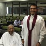 Ratnasiri Wickremanayake and Namal Rajapaksa 2015