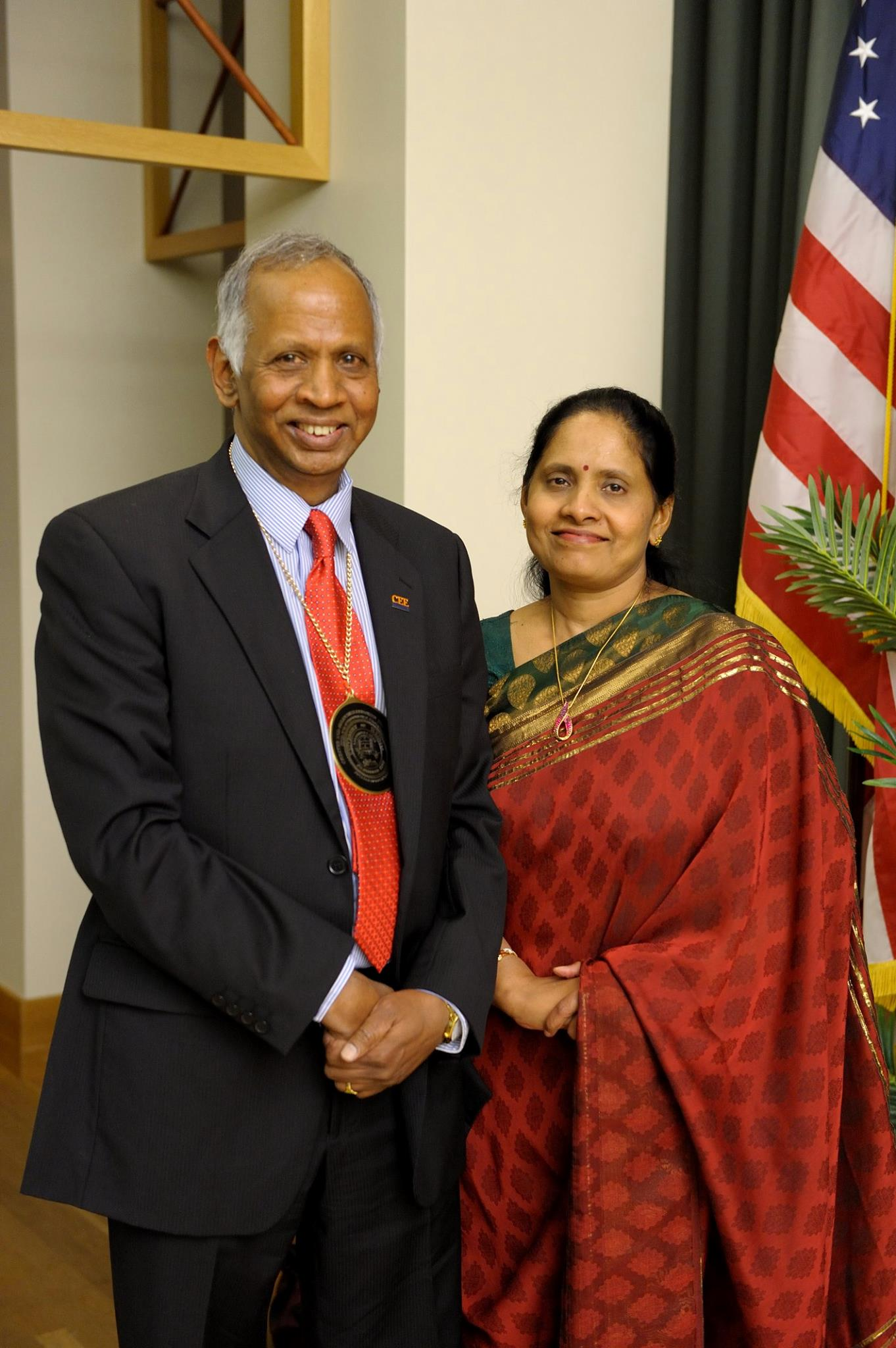 Prof. Murugesu Sivapalan with wife Banumathy