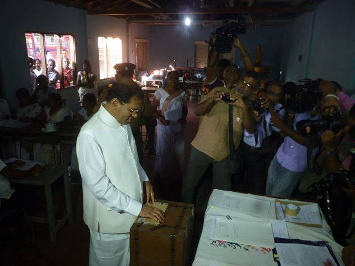 Maithripala Vote Jan 8 2015