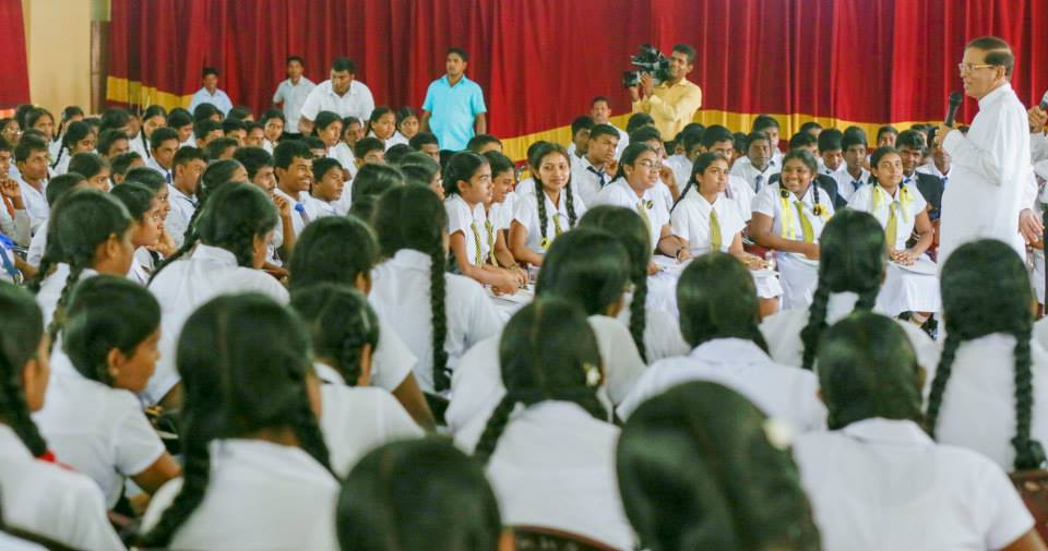 School Maithripala May 28 2015 Jaffna