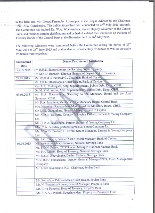 CPOE Report bond scam- Page – 02 – Colombo Telegraph