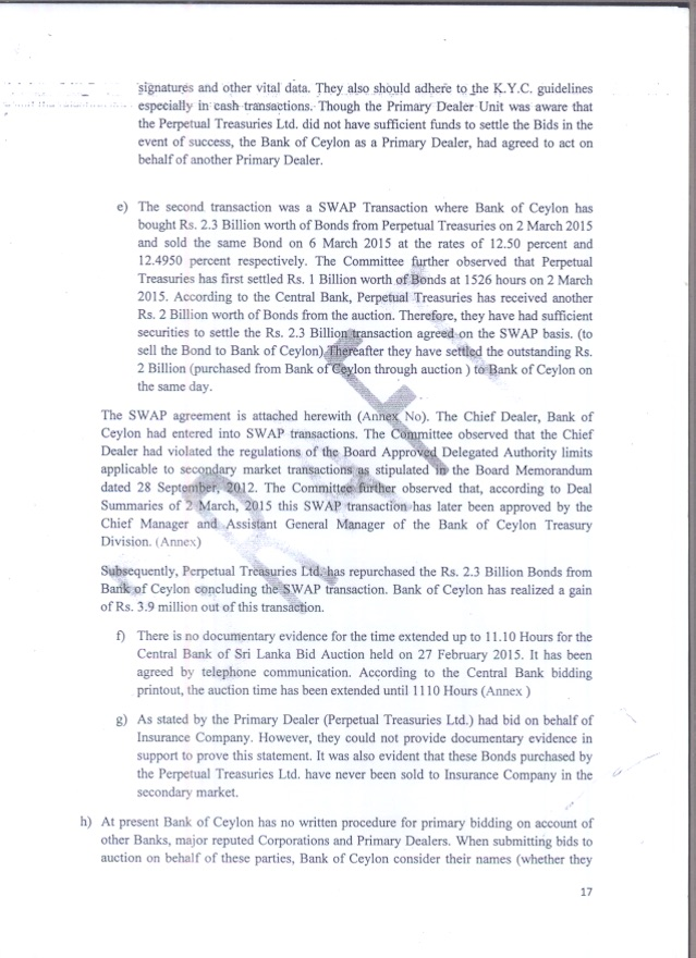 CPOE Report  bond scam  - Page - 17