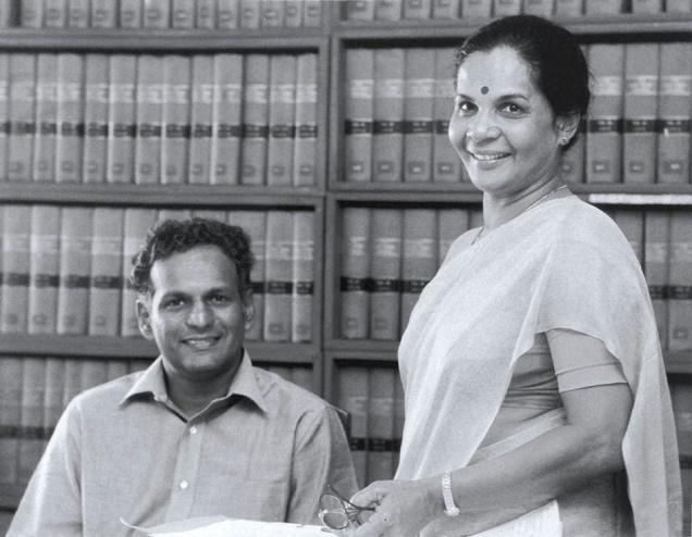 Neelan Tiruchelvam and Sithie