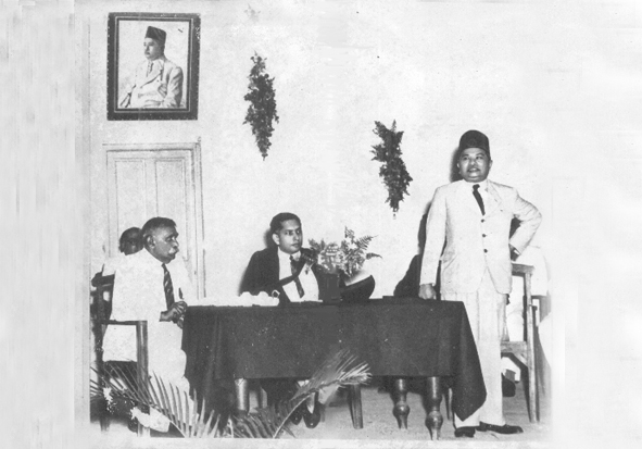 D.S. Senanayake, Azeez and T.B. Jayah