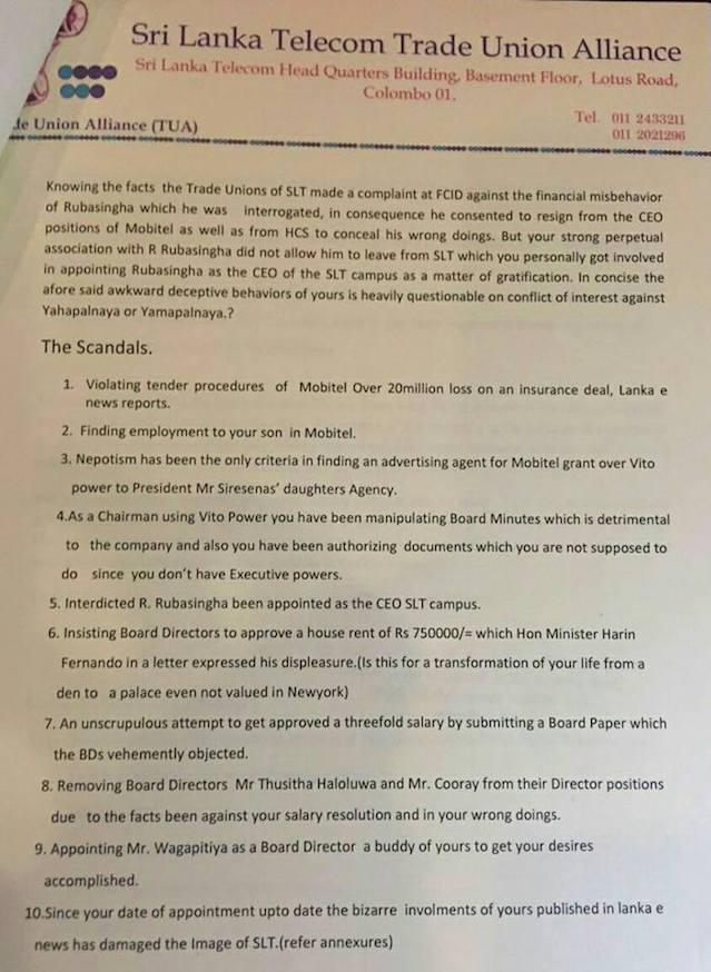 Trade Union Resignation Letter