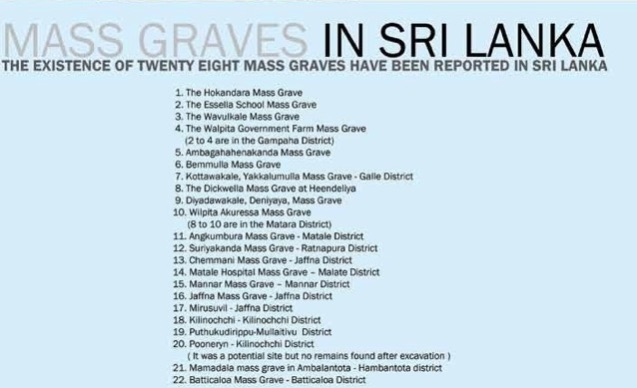 mass graves Sri Lanka