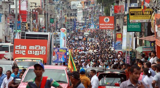 Pada Yatra Pic via Wimal Weerawansa's Facebook
