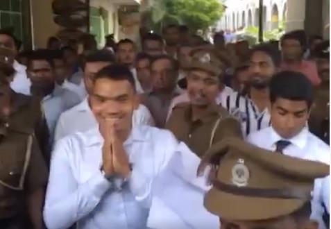 Namla Rajapaksa arrested
