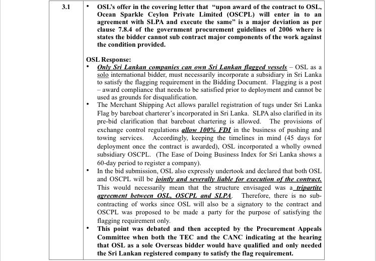India%E2%80%99s leading tug boat operator Ocean Sparkles tender issue in Sri Lanka in sri lankan news